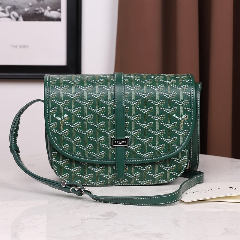 Goyardine Belvedere Small Messenger Bag Green - PerfectKickZ
