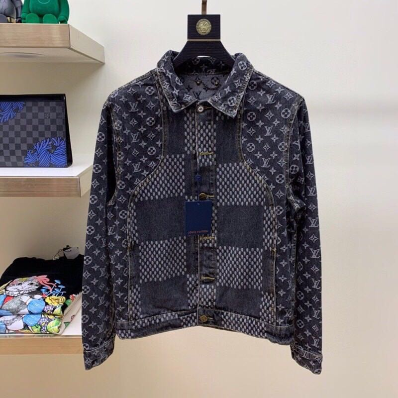 Giant Damier Waves Monogram Denim Jacket - PerfectKickZ