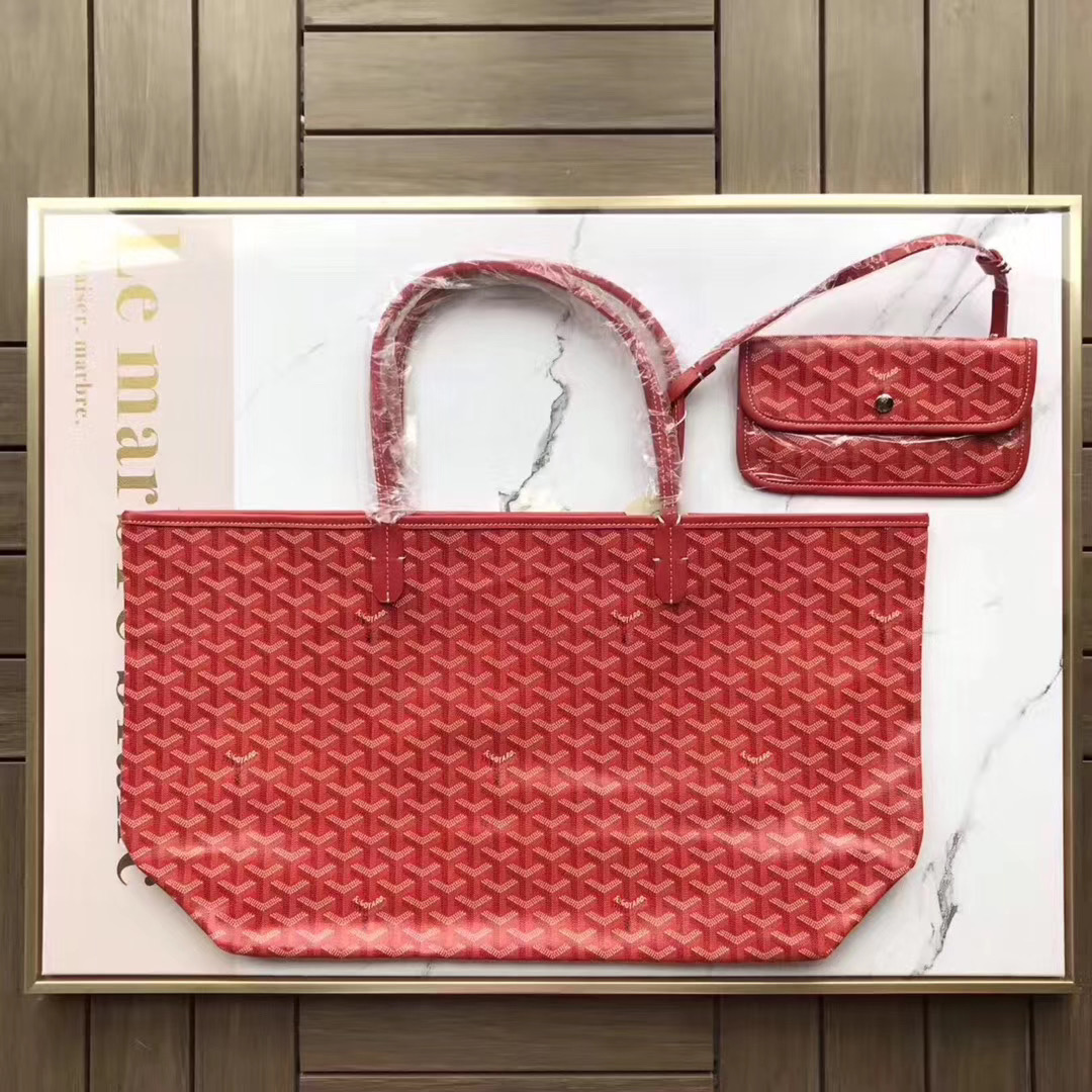 Saint Louis PM Handbag Red Tote Bag - PerfectKickZ