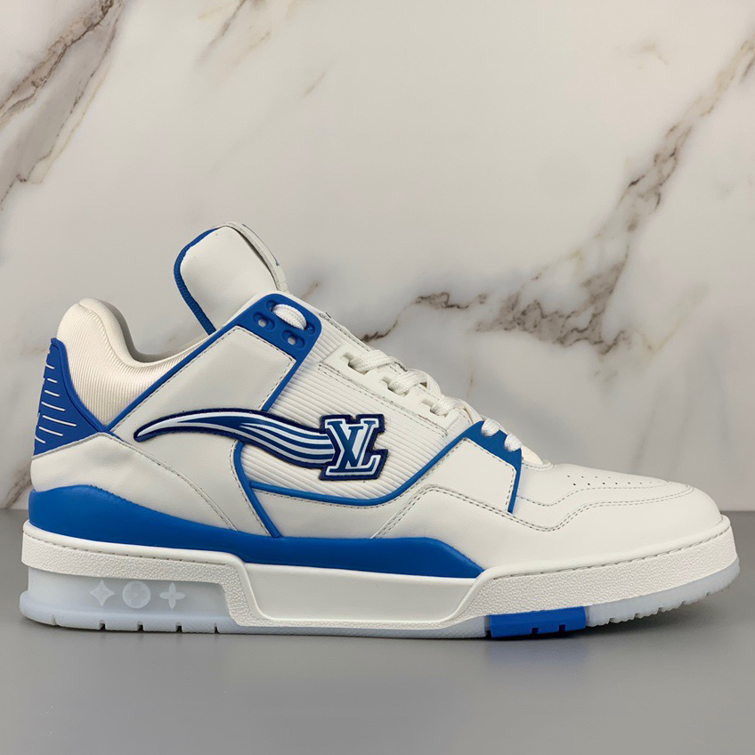 FF-2020 Trainers Low Cut White-blue Sneakers - PerfectKickZ