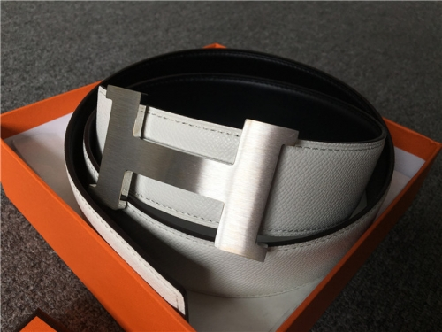 Limited Quality Belt White reversible Sliver Buckle - PerfectKickZ