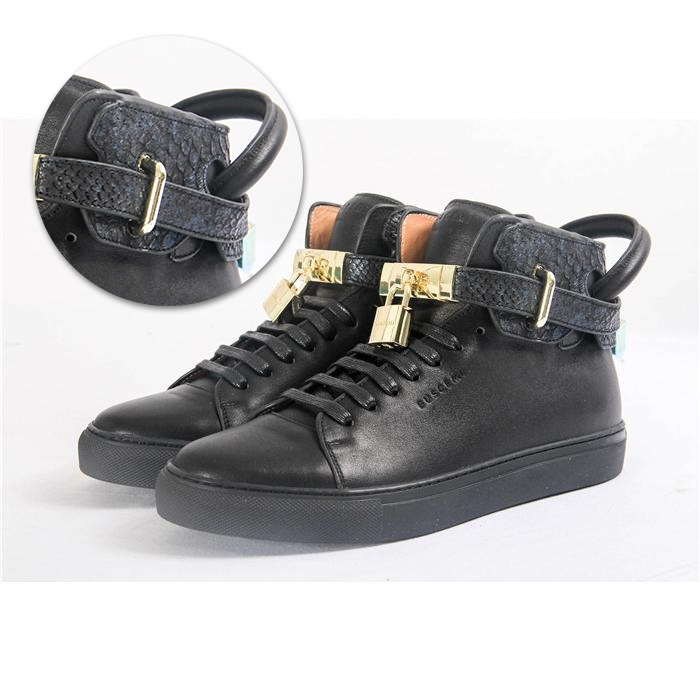 High-top Top Python Leather Sneaker - PerfectKickZ