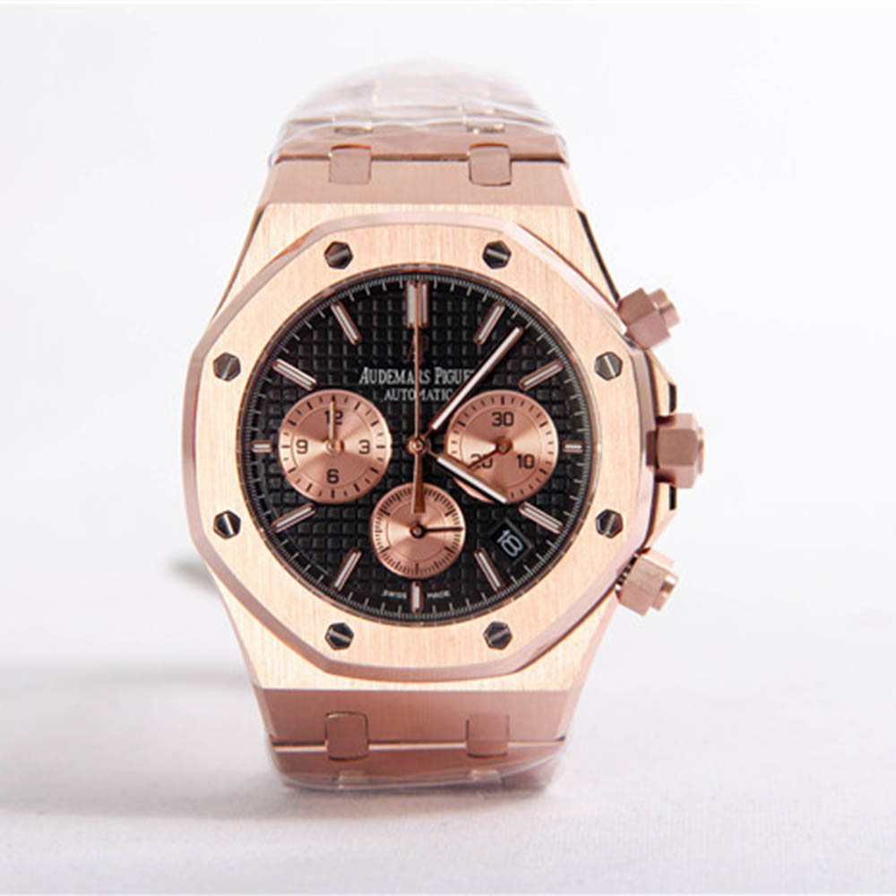 Royal Oak Offshore Jewelly Men Gold Color Watch - PerfectKickZ