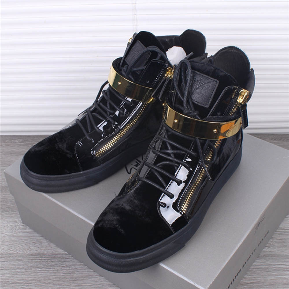 Coby High Top Black Sneakers - PerfectKickZ