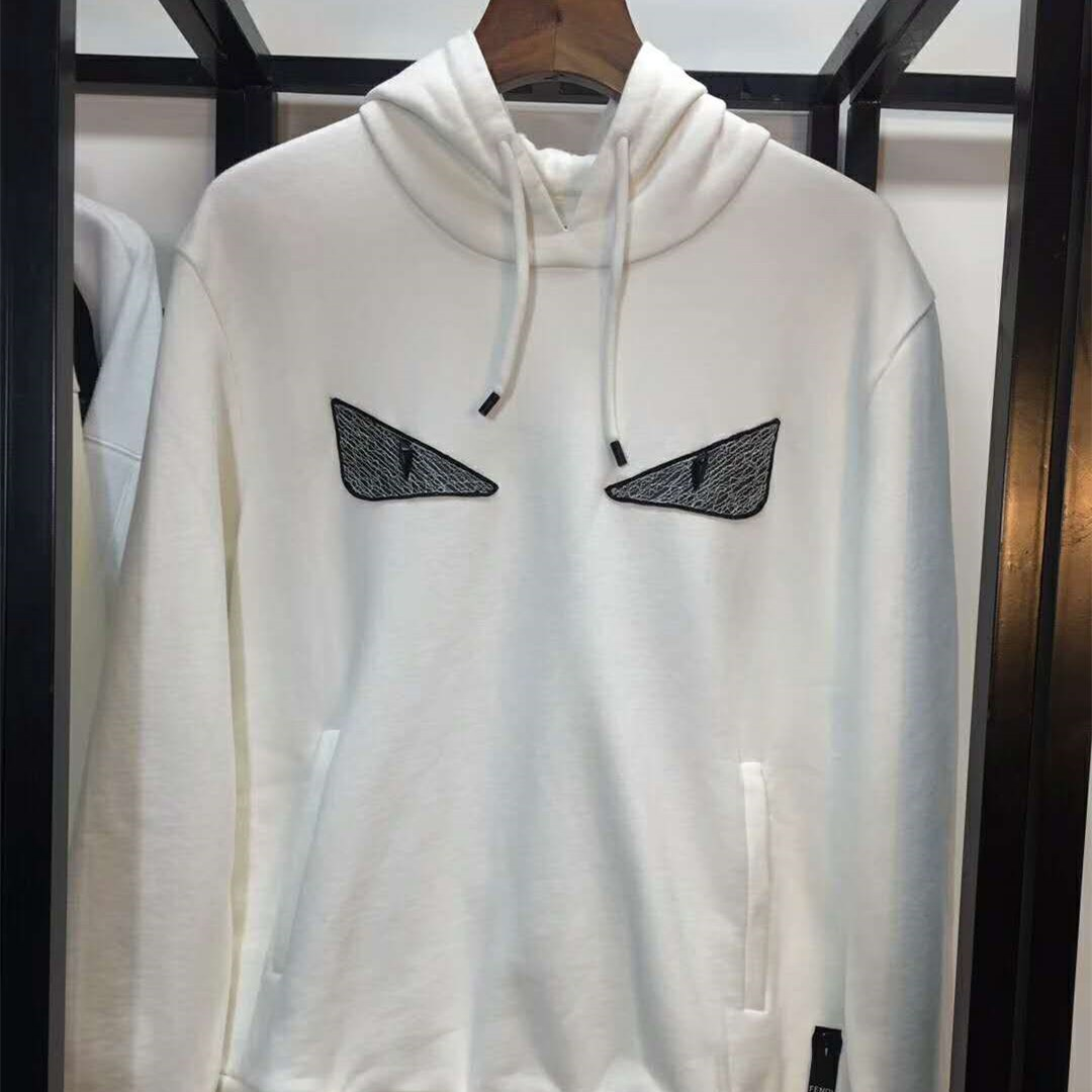 White Cotton Jersey Sweatshirt bag bugs  - PerfectKickZ