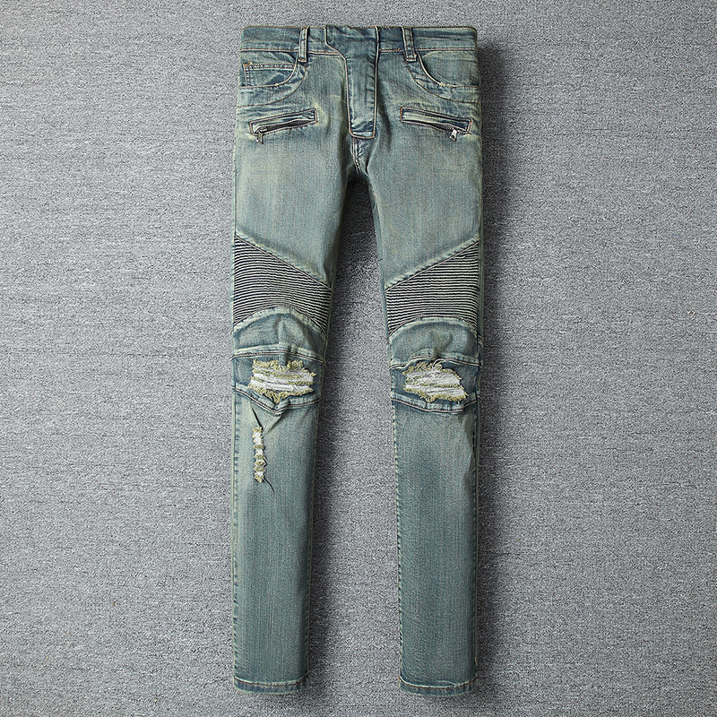 Slim-fit Broken Jeans in laurel-green - PerfectKickZ