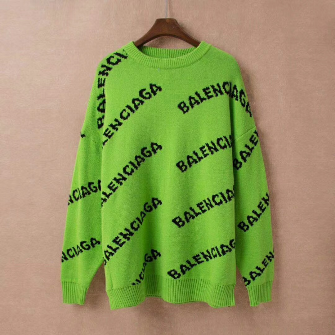 Allover Logo Crewneck Sweatshirt in Neon green  - PerfectKickZ