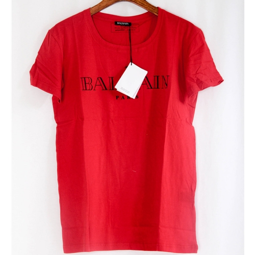 Limited Quality Paris Logo Print Cotton Red T-shirt - PerfectKickZ