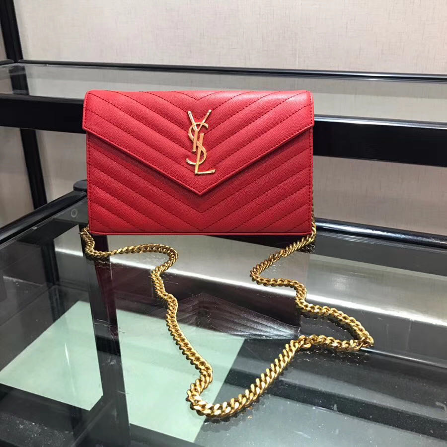 Red Leather Shoulder Bag - PerfectKickZ