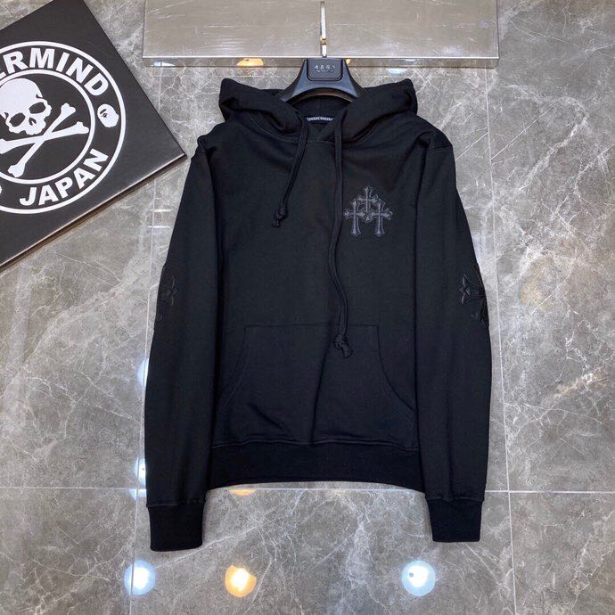 Leather Cross Patch Hoodie - PerfectKickZ