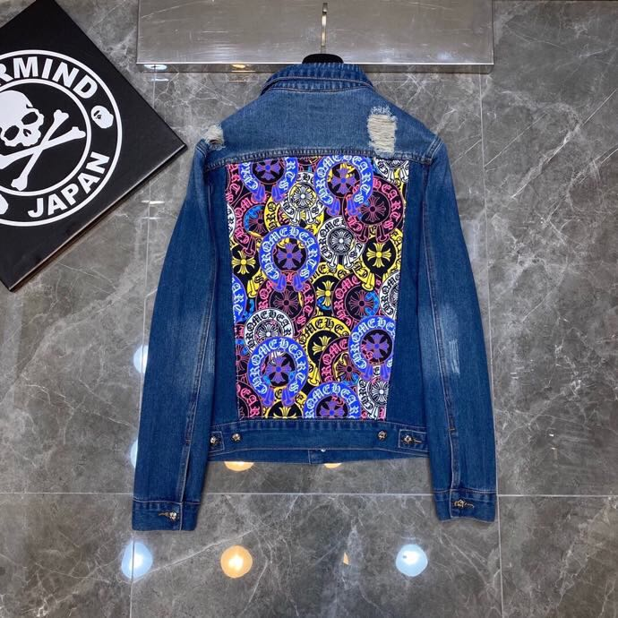 Signature Print Denim Jacket - PerfectKickZ