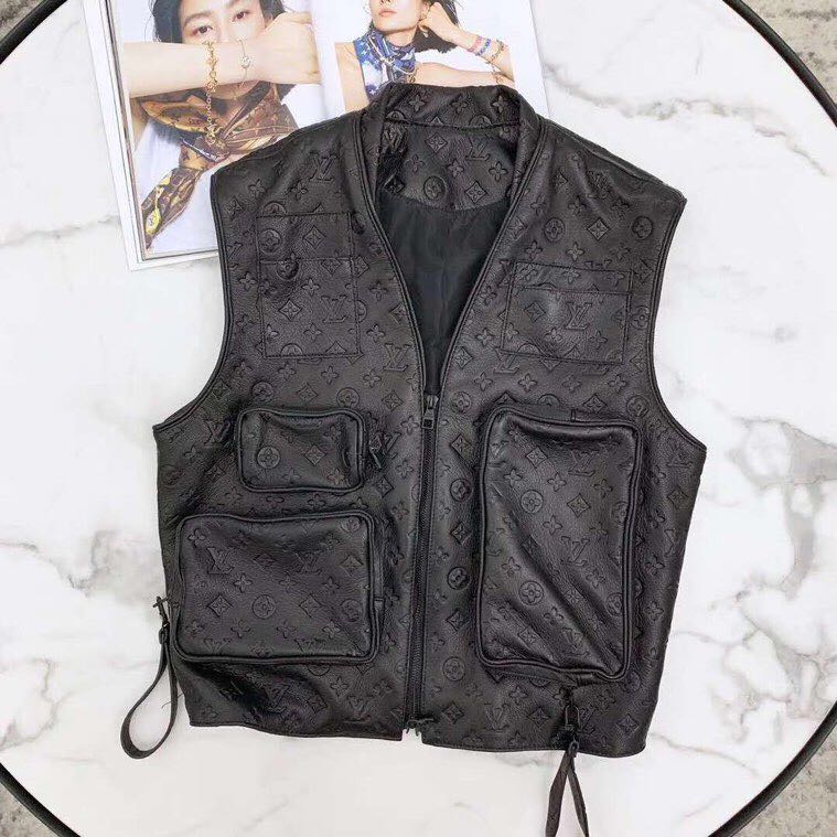 Virgil Abloh's Leather Utility Vest Jacket - PerfectKickZ