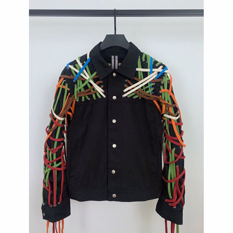 """TECUATL"" Lace up Technical Gabardine Jacket  - PerfectKickZ"