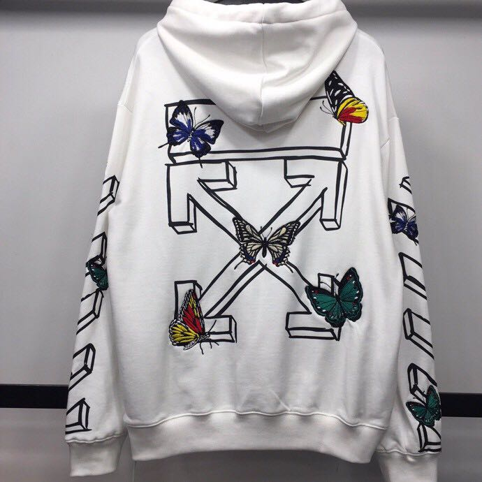 Butterfly Embroidery Arrows Hoodie - PerfectKickZ