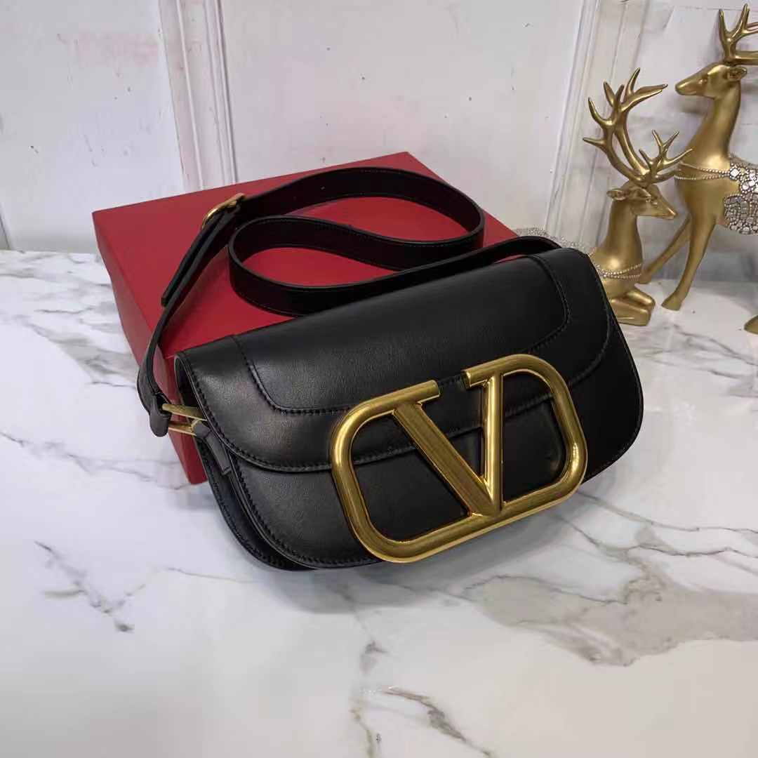 VLOGO Leather Shoulder Bag - PerfectKickZ