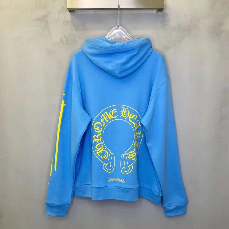 Miami Exclusive Blue Yellow Hoodie - PerfectKickZ