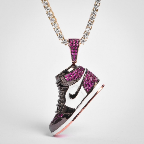 FREE SHIPPING Rose Gold Iced AJ1 Pendant - PerfectKickZ